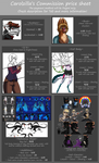 Commissions Prices List