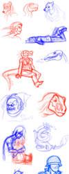 Stream and random sketches by Carolzilla