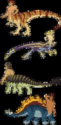Adoptable - Dinotaurs - CLOSED by Carolzilla