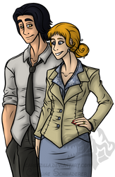 Woru and Amber as Bigby and Snow by Carolzilla