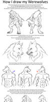 How I draw Werewolves by Carolzilla