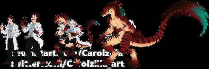 WereRaptor TF - Commission by Carolzilla