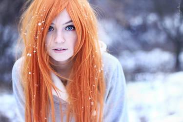 Photoshoot - Ginger winter 1 by Tanuki-Tinka-Asai