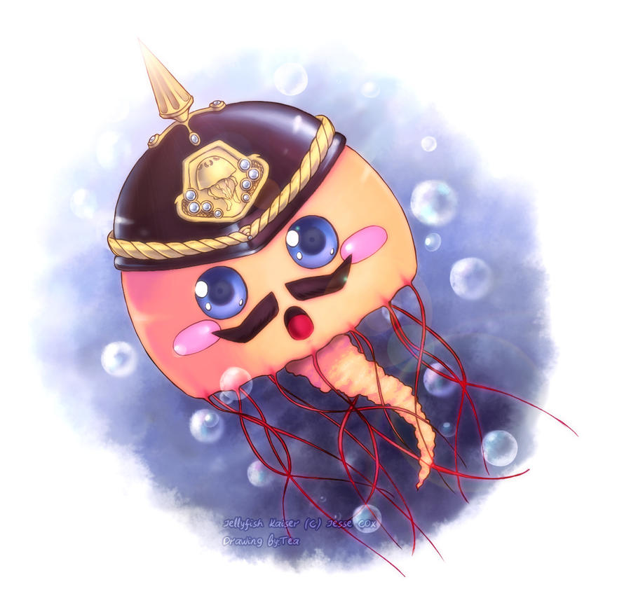 Fan art -Jellyfish Kaiser- by Tea-desu