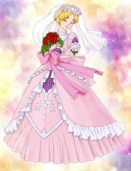 Usagi in wedding dress