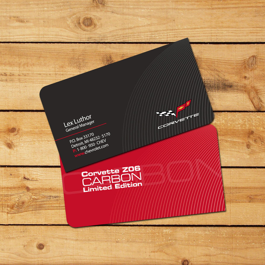 Chevy corvette carbon card by jgoines on deviantart for Corvette business cards