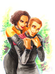 CC: Tom and B'elanna by DrMistyTang