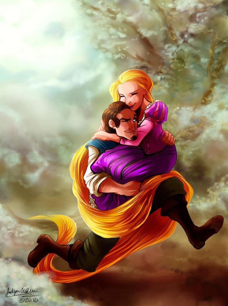 CC: Flynn and Rapunzel by DrMistyTang