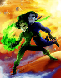 CC: Shego and Drakken by DrMistyTang