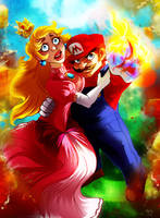 CC: Mario and Peach by DrMistyTang