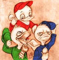 Huey Dewey and Louie by DrMistyTang