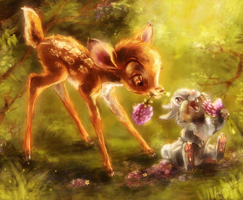 Bambi Thumper Coloring Drmistytang Deviantart