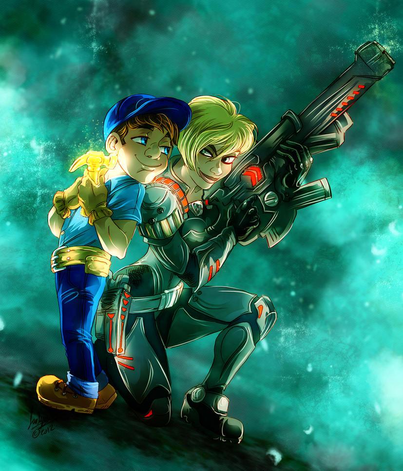 CC: Felix Jr. and Sergeant Calhoun by MistyTang