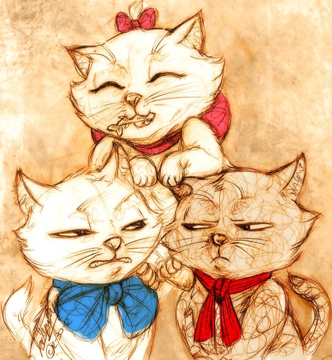 Kittens by MistyTang
