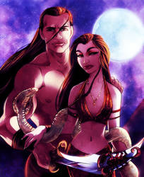 CC: Scorpion King and the Sorceress by DrMistyTang