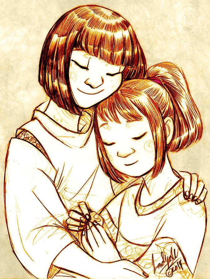 Kohaku and Chihiro by MistyTang