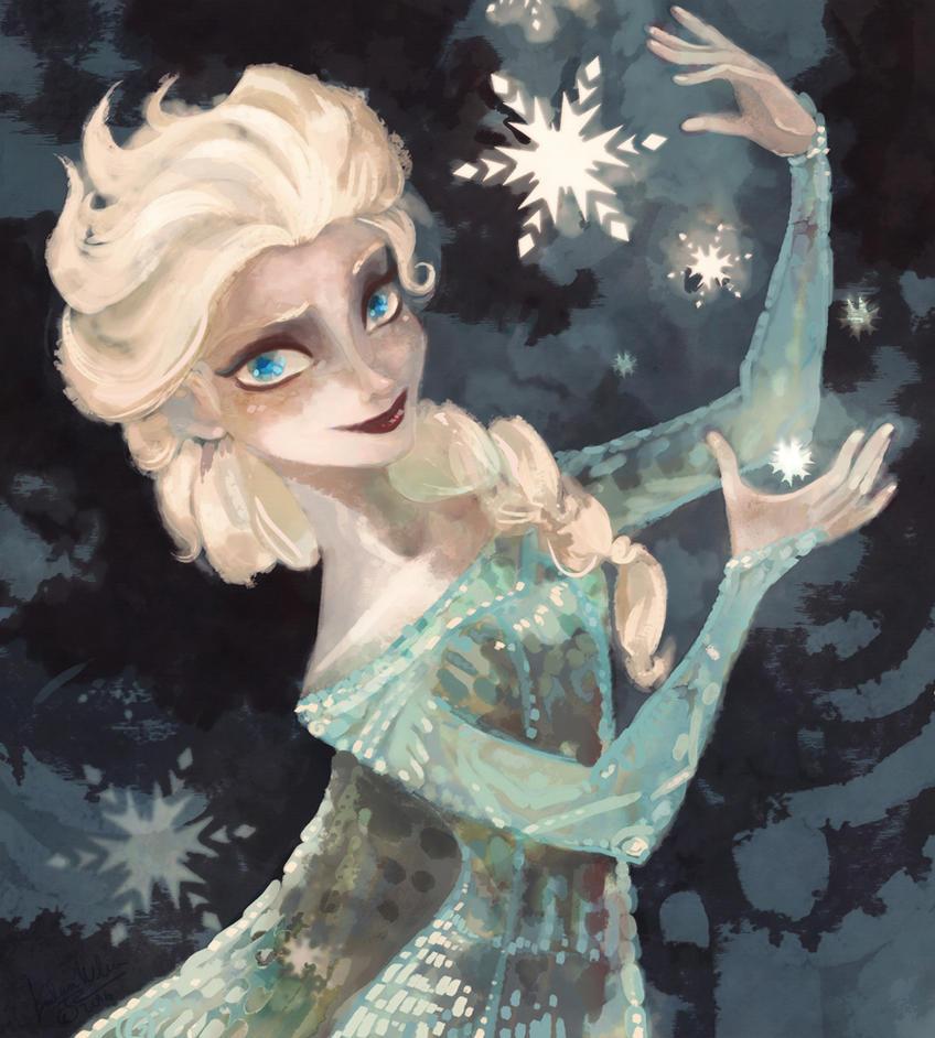Elsa Waterhouse Coloring Book By DrMistyTang