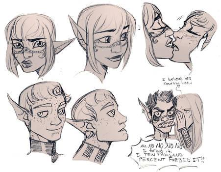 Fiana and Xenos Sketches