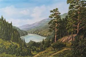 Forest lake by JozefBalaz