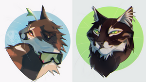 cat busts [commission/personal]