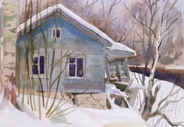 Winter small house by NatashaSolo