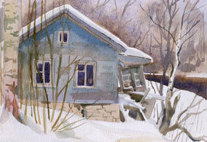 Winter small house
