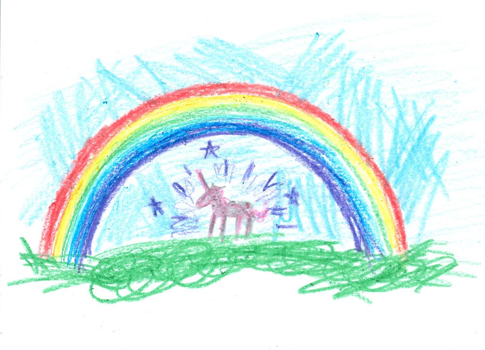 Rainbow Unicorn by HowardTayler