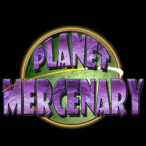 PlanetMercenaryLogo-OnBlack by HowardTayler