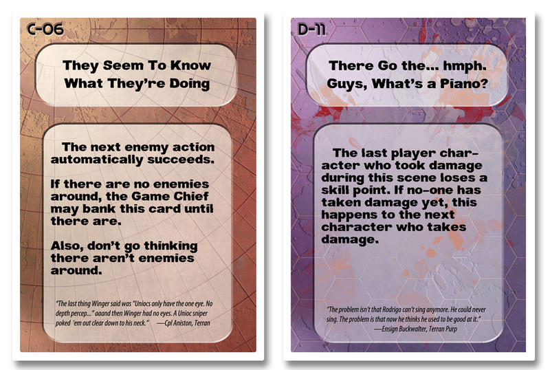 Mayhem Cards C-06 and D-11 by HowardTayler