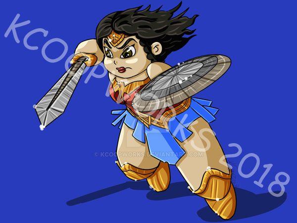 Chibi Wonder Woman by KCoopWorks