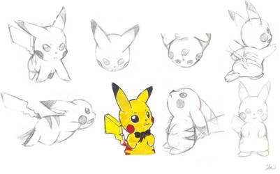 pikachu sketches