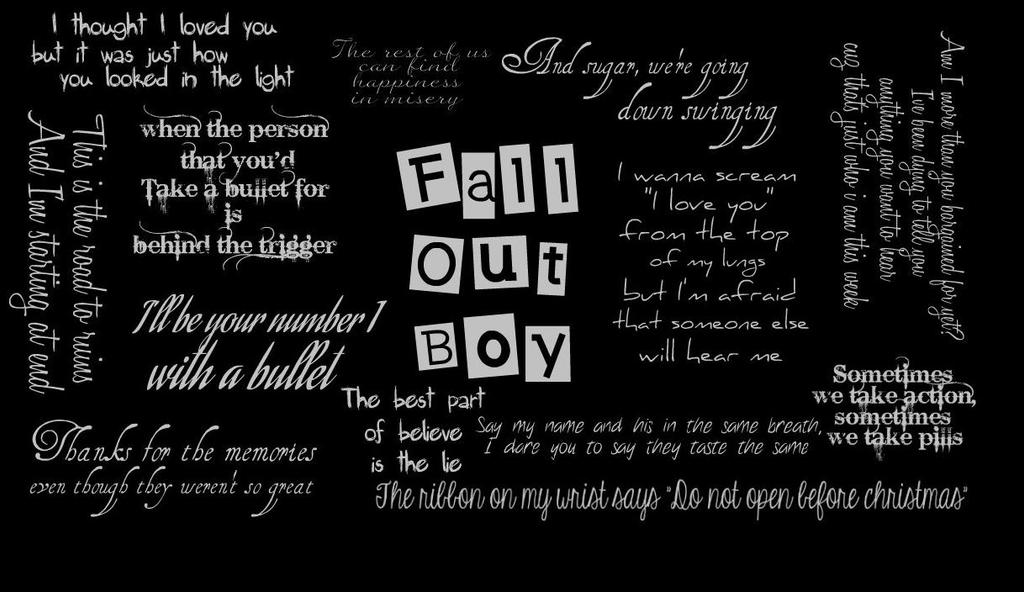 fall out boy mobile phone wallpaper