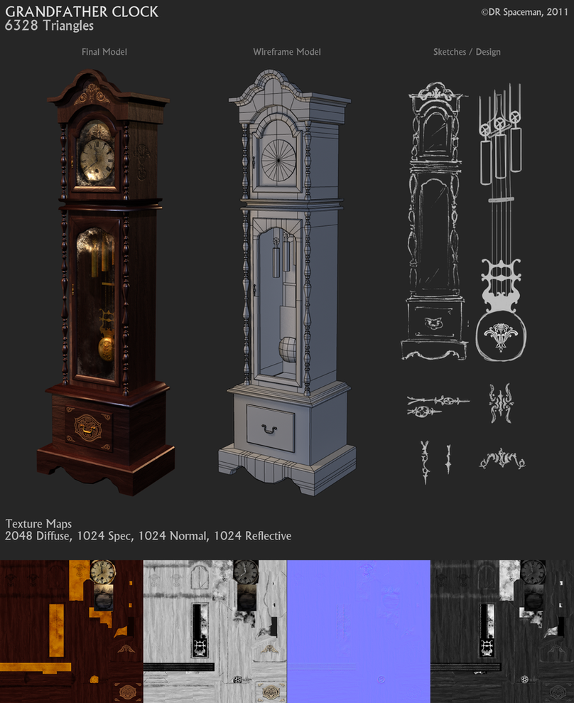Grandfather Clock by DRSpaceman