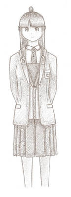 Maya in school uniform