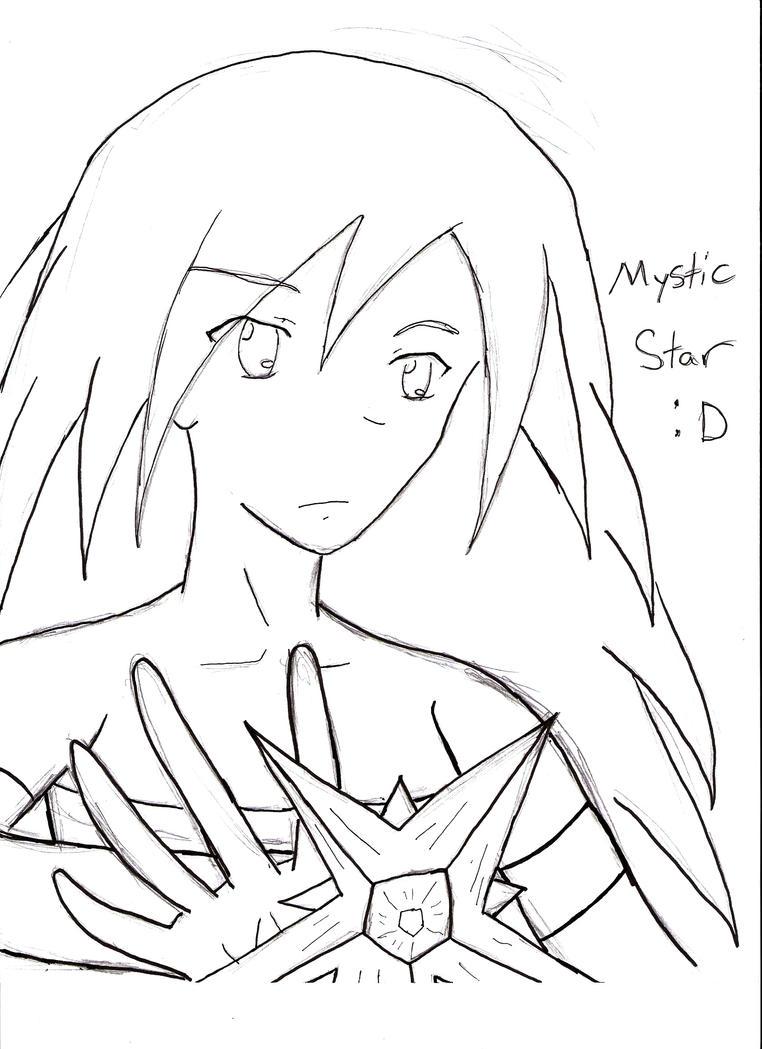 Line Art Ks : Mystic star line art thanks to sambaart by anime ftw on