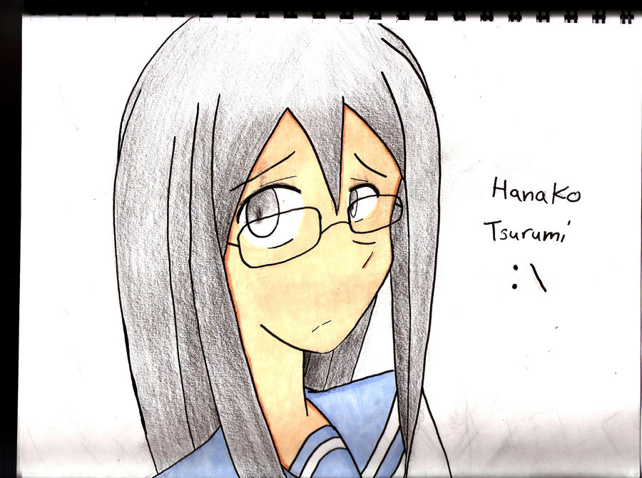 Manga drawing Hanako finished by Anime-FTW92
