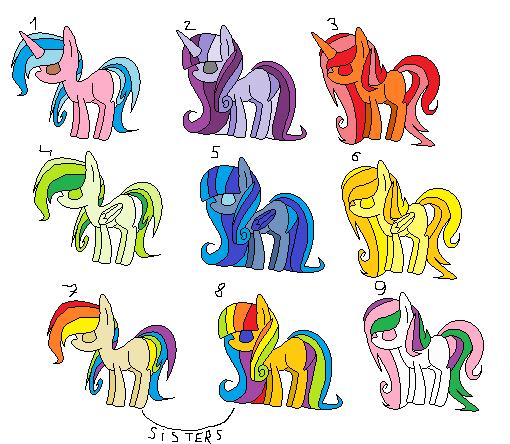 My Little Pony Wedding Flower Fillies: Mlp Free Ponies Adopt 2 By Flora-flower1 On DeviantArt