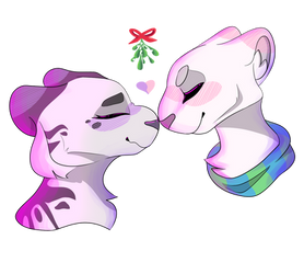 i'll be under the mistletoe by OpaIescent