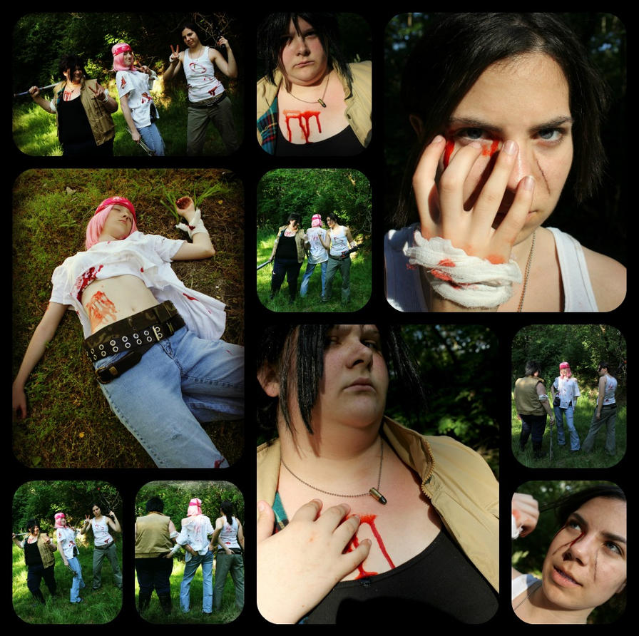 `Slayers' Wounds` Zombie Apocalypse Naruto Collage By