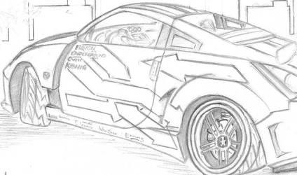 350Z Rear by kaninboy