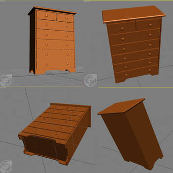 Dresser in Autodesk 3ds Max by Shadamachaeon