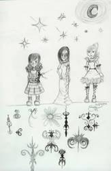 3 fashion girls in the stars