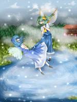 Cirno and Daiyousei by watermelon-clock