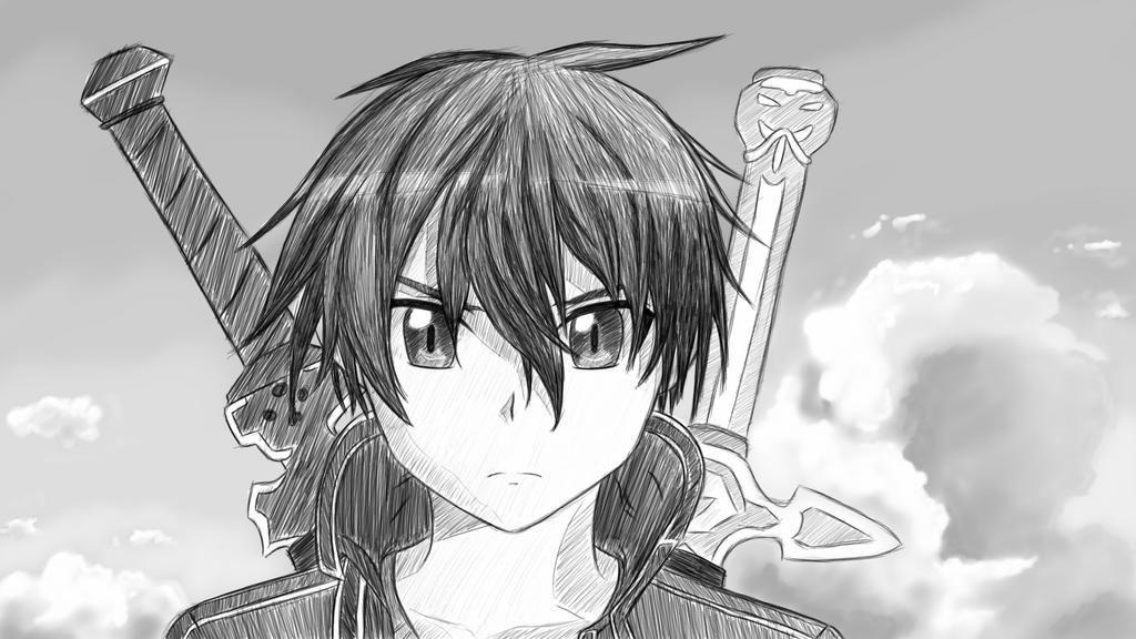 Kirito  Sketch By W0lfix On DeviantART