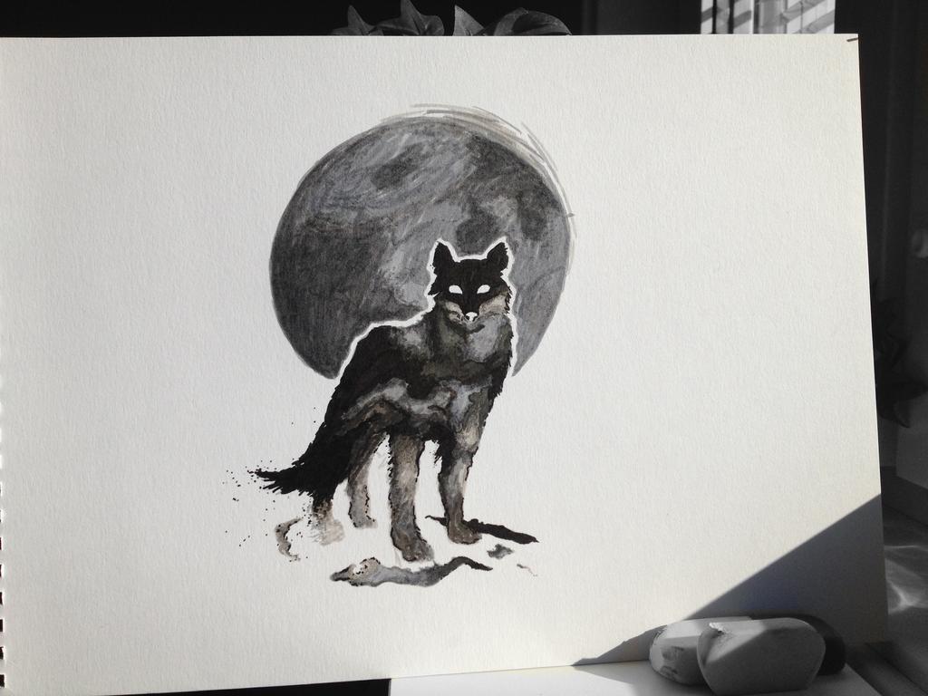 Inked Wolf by w0lfix