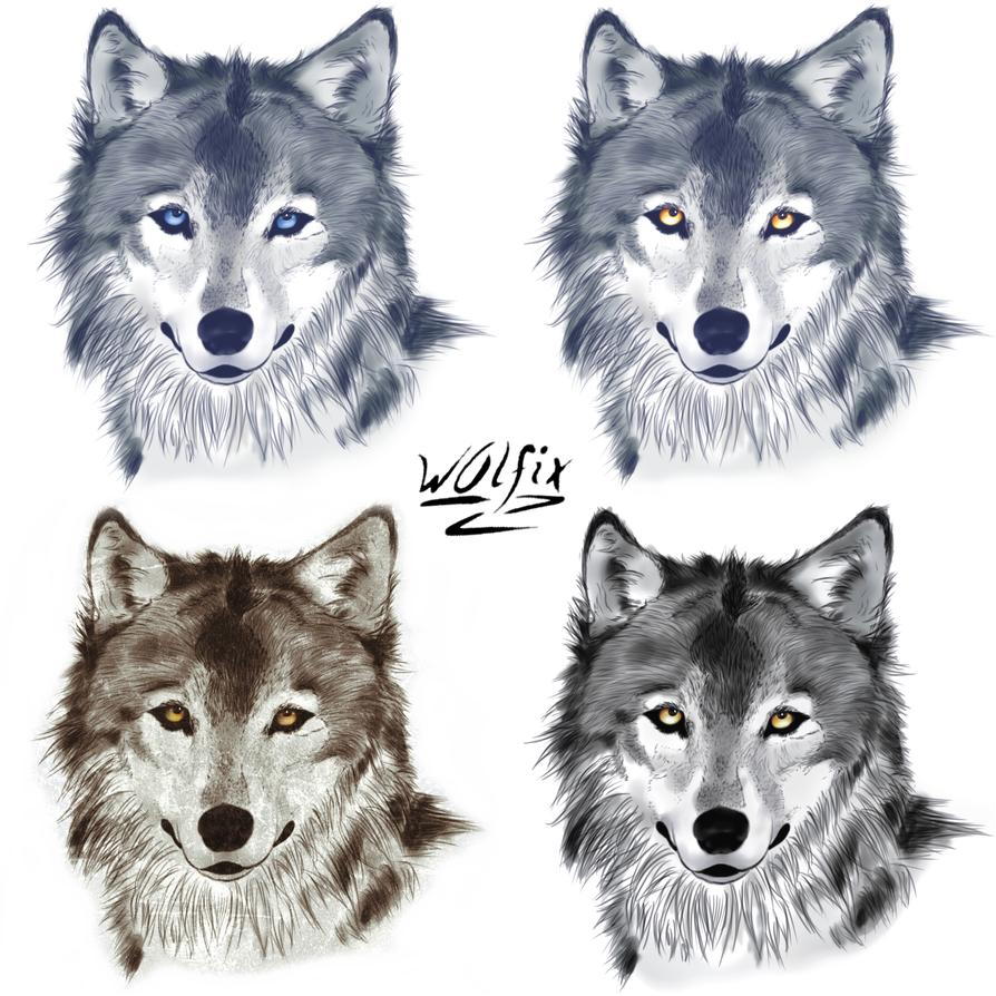 Wolf Head by w0lfix