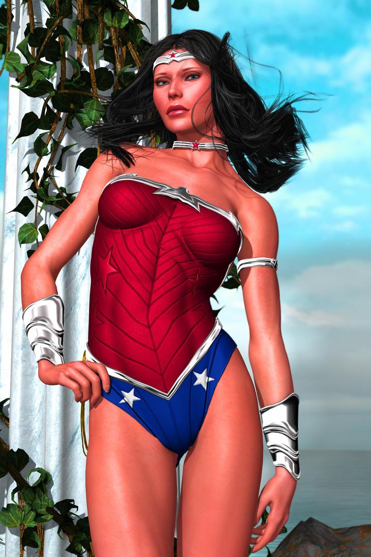 Wonder Woman: New 52 (Pin Up) by FredAckerman