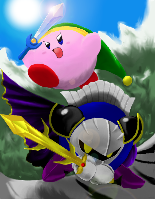 Kirby and Meta Knight by Mikan3 on DeviantArt