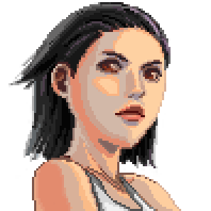 Pixel portrait by DreamsOfSilence