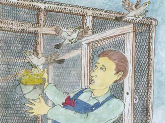 Skipper and the birds escape